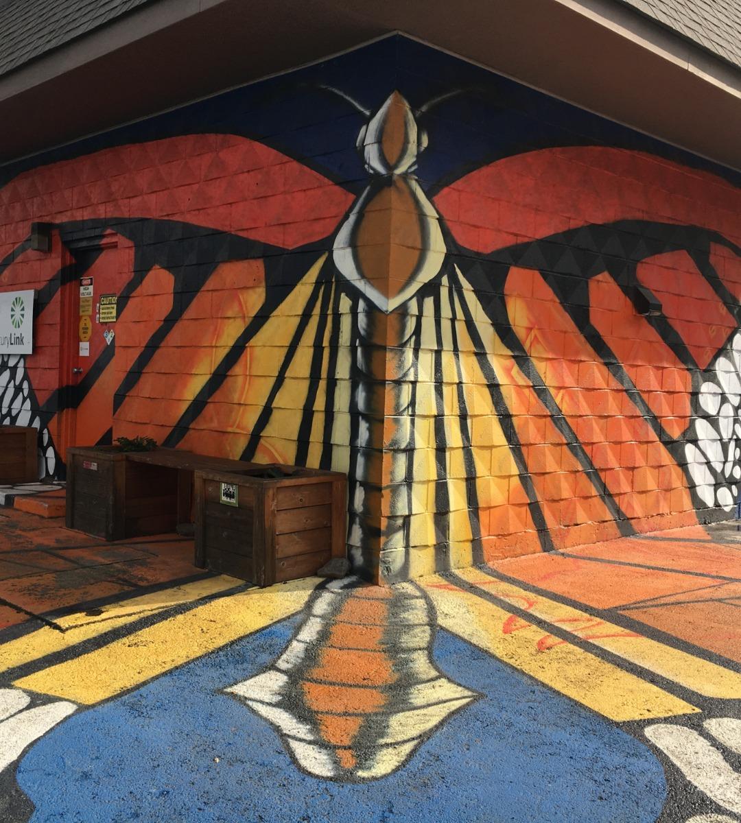 Mosier butterfly mural
