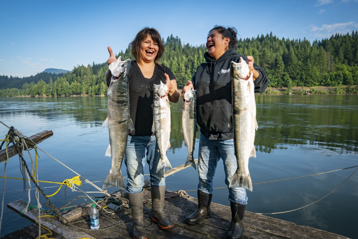 Brigham Sisters fishing haul