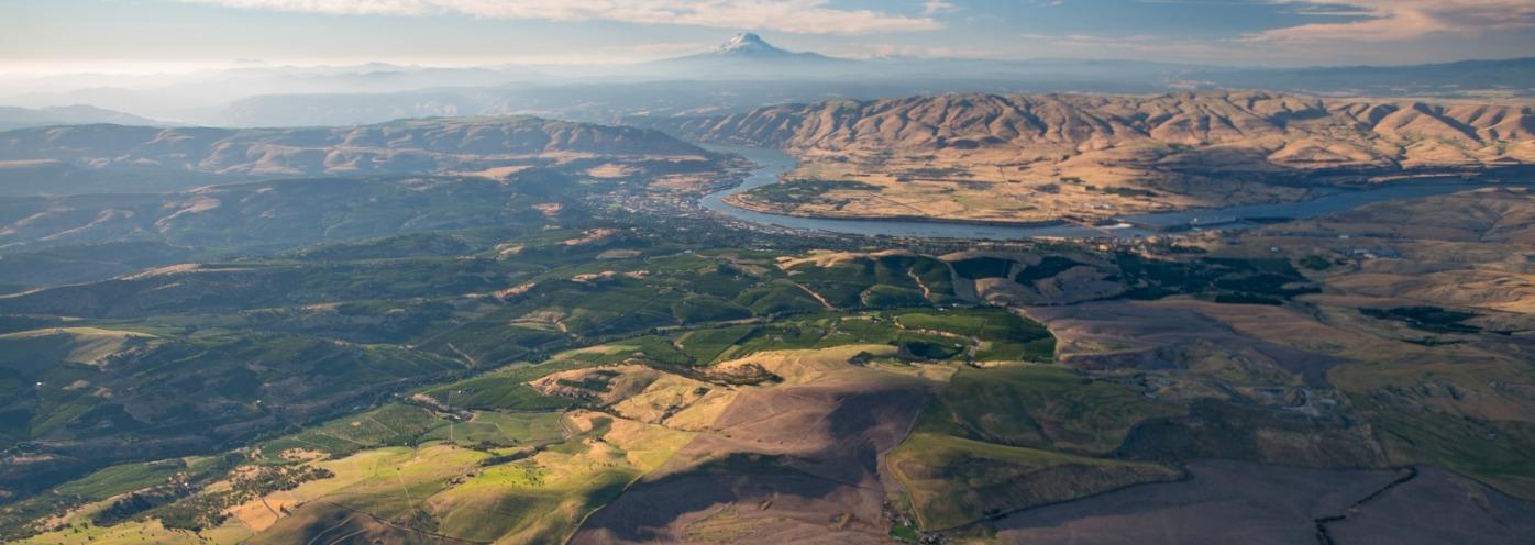 Hood Gorge aerial